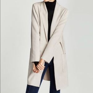Zara Natural Suede Jacket